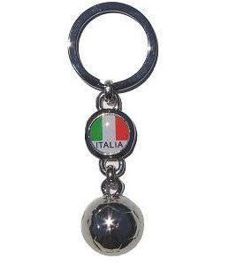 ITALIA NIKEL SOCCER BALL KEYRING