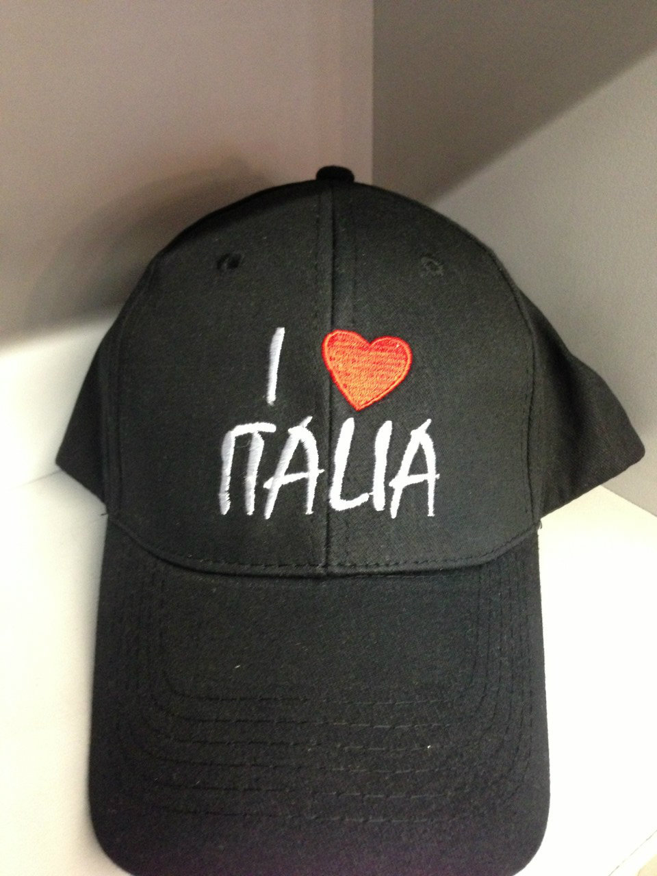I LOVE ITALIA BLACK CAP
