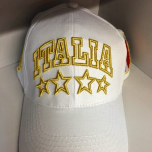 ITALIA WHITE & GOLD CAP