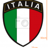 STICKER - Italian league title with flag (25cmx30cm)