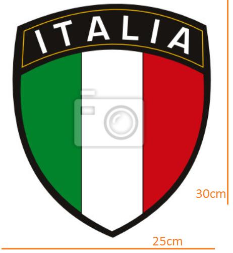STICKER - Italian league title with flag (25cmx30cm)