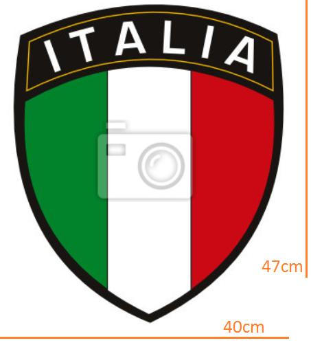 STICKER - Italian league title with flag (40cmx47cm)