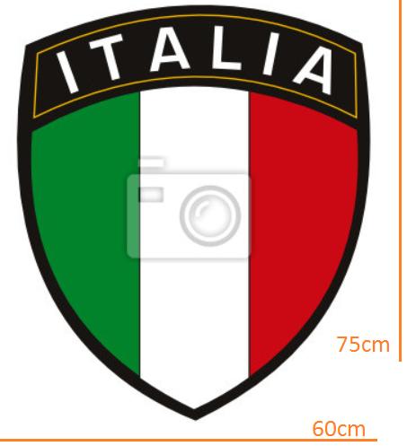 STICKER - Italian league title with flag  (60cmx75cm)