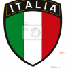 STICKER - Italian league title with flag  (80cmx1m)