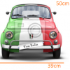 STICKER - Italian Fiat500 (39cmx50cm)