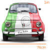 STICKER - Italian Fiat500  (76cmx1m)