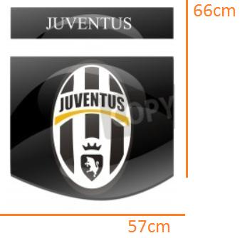 Juventus STICKER (57cmx66cm)