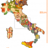 Map of Italy with Crests STICKER (68cmx80cm)