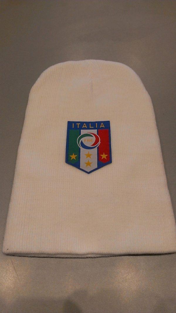 WHITE ITALIA BEANIE