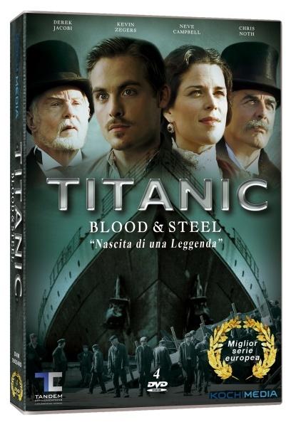 """TITANIC - BLOOD & STEEL """"NASCITA DI UNA LEGGENDA"""" (4 DVD)"""