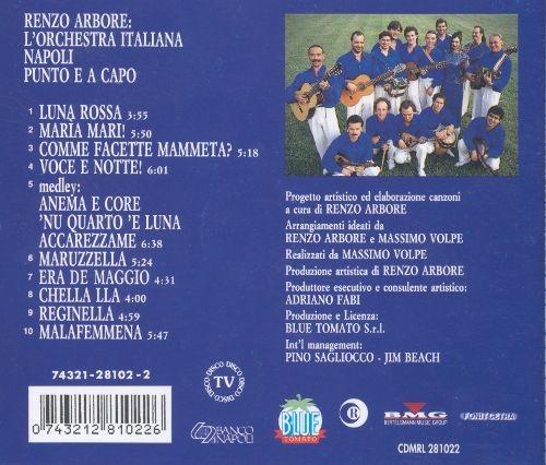buono sconto dettagliare comprare a buon mercato NAPOLI PUNTO e a CAPO – RENZO ARBORE L'ORCHESTRA ITALIANA – CD